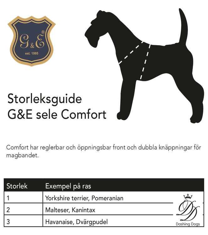 Gustaf & Evita Comfort Sele Svart/Leopard
