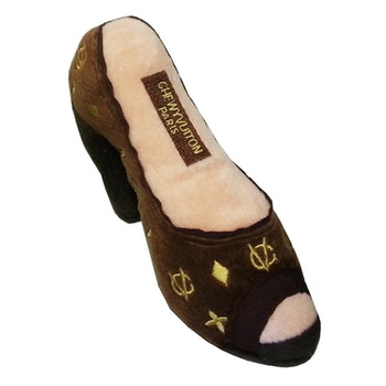 Dog Diggin Design Chewy Vuiton shoe brown
