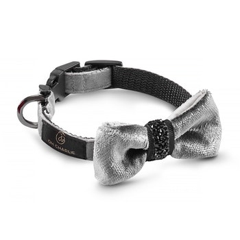 Halsband Bow-tie, Shiny Grey