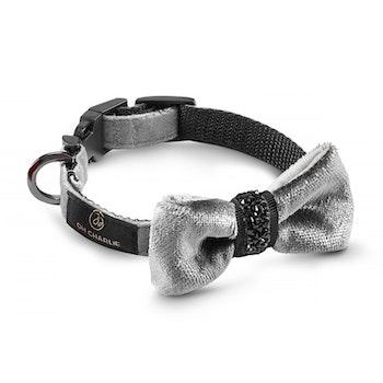 Halsband Bow-tie, Shiny Grey