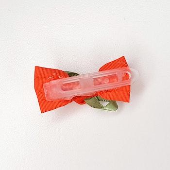 Hårspänne - Rosett Apelsin/Ros