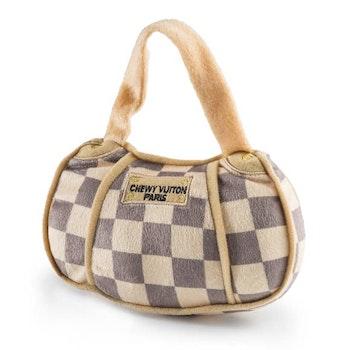 Haute Diggity Dog Chewy Vuiton väska m. rutor