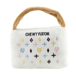 Haute Diggity Dog Chewy Vuiton väska, vit