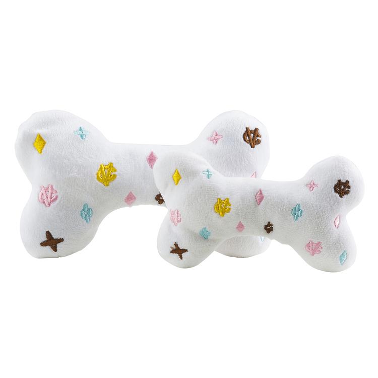 Haute Diggity Dog Chewy Vuiton Bone, White