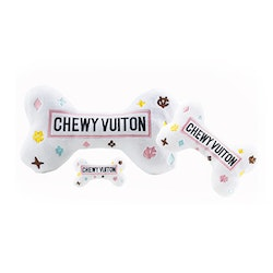 Haute Diggity Dog Chewy Vuiton Bone, White