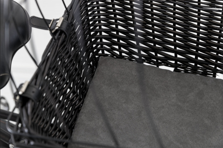 Cykelkorg pil, för pakethållare, svart