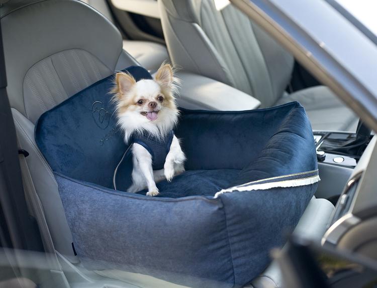 Bilstol till hund, Allure, Navy Blue