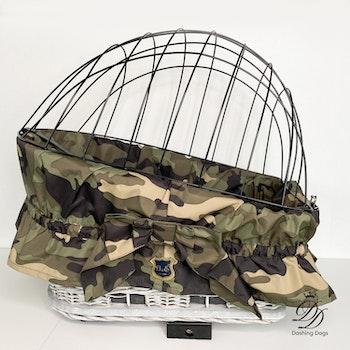 Tygklädsel till cykelkorg, Camouflage