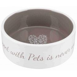 Pet's Home keramikskål Creme/Taupe