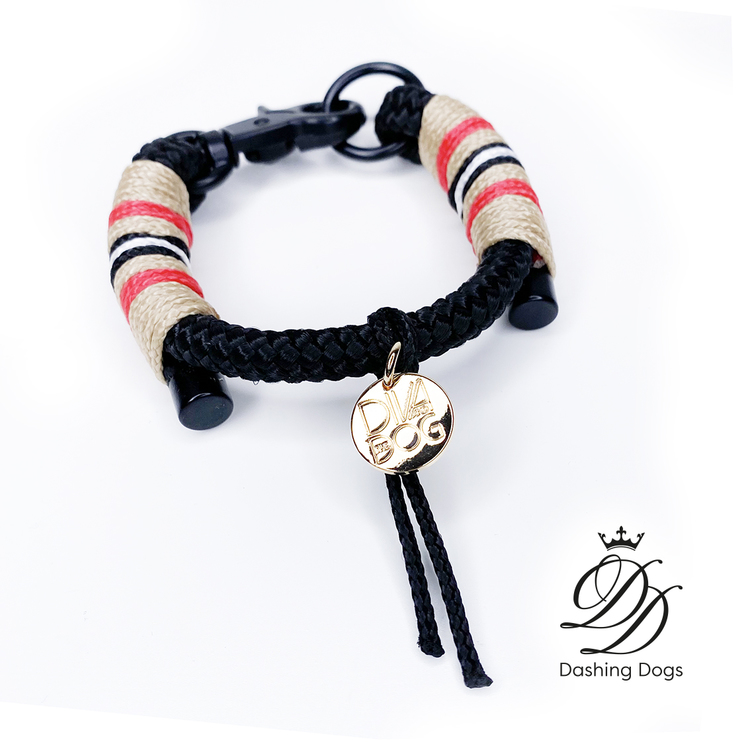 Diva & The Dog Classic Black Halsband