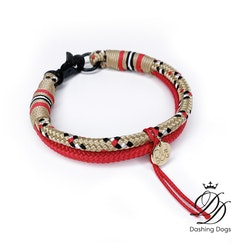 Diva & The Dog Classic Tartan Gold Halsband