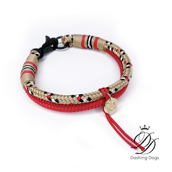Diva & The Dog Classic Tartan Gold Halsband