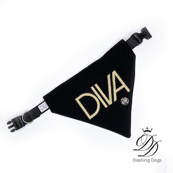 Diva & The Dog Bandana DIVA med halsband