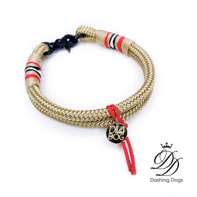 Diva & The Dog Classic Gold Halsband