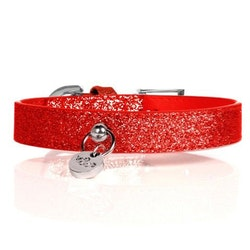 Milk & Pepper Hundhalsband, Stardust Red