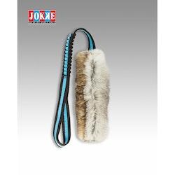 Kampleksak i kaninskinn med elastiskt handtag, 60cm