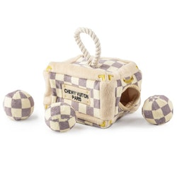 Haute Diggity Dog Chewy Vuiton Checker Trunk