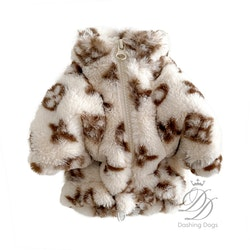 Chewy Luxury Dog Sweater Beige