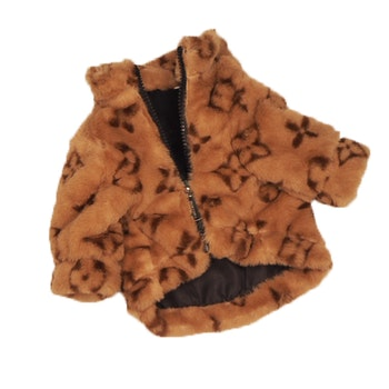 Luxury Dog Sweater Brown