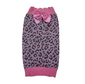 Stickad tröja hund, Pink Leo