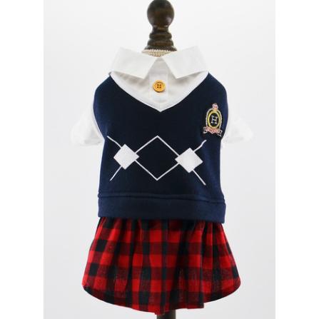 Skoluniform med kjol