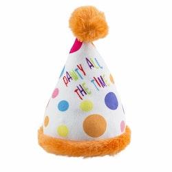 Hundleksak Happy Birthday Hat