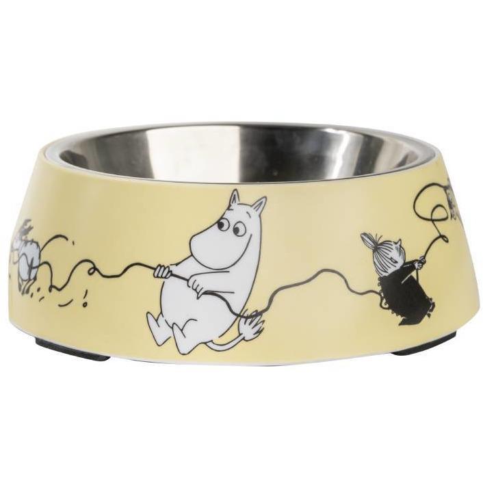 Moomin Pets food bowl, yellow Medium