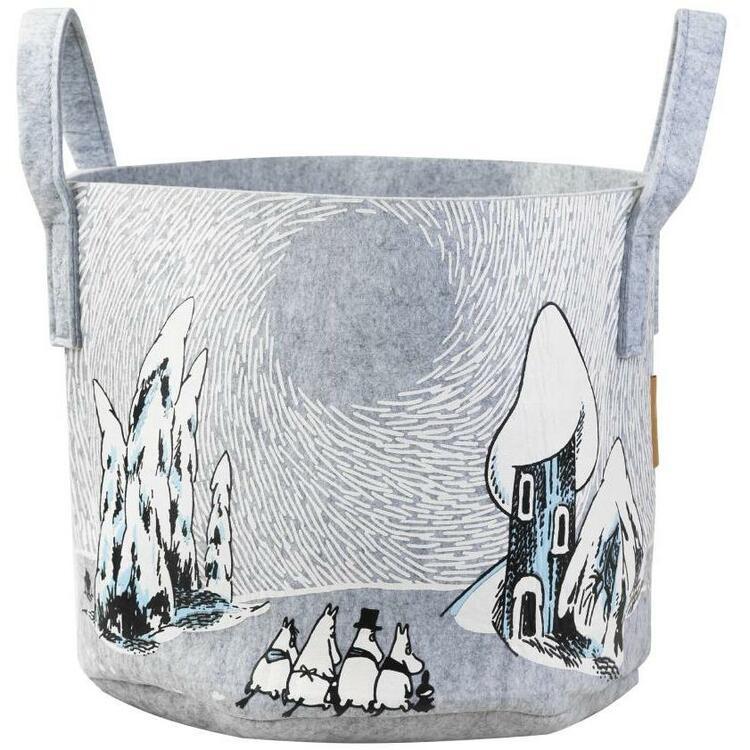 Moomin Snowy Valley Basket, förvaringskorg 30L