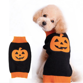 Halloween Stickad Tröja, Hund