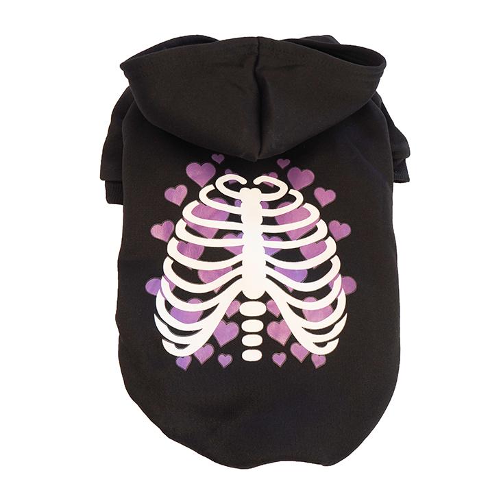 Halloween Hoodie Skelett