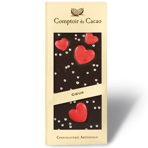 "Mörk Choklad med Hjärtan ""Comptoir du Cacao"""