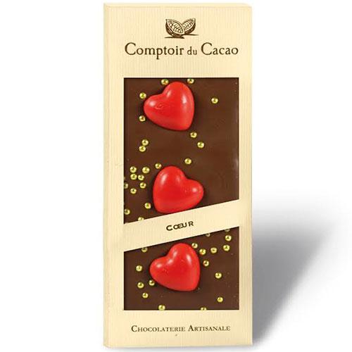 """Ljus Choklad med Hjärtan """"Comptoir du Cacao"""""""