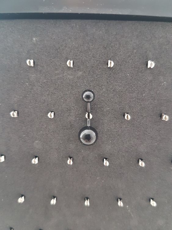 Navelpiercing Bioplast Svart 1.6x10mm