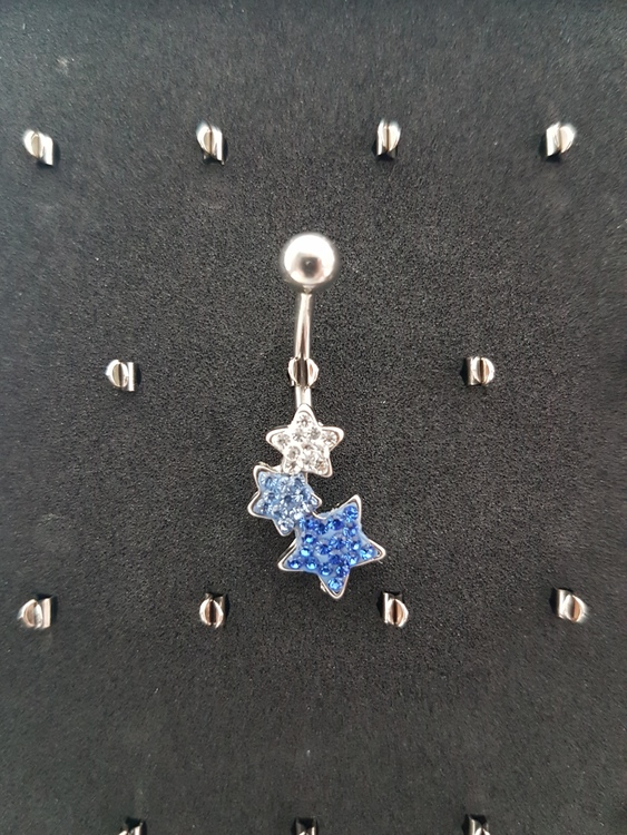 Navelpiercing Star Blue Swarovski