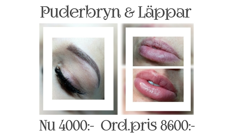Powderbrows & Läppar Paketpris Pigmentering