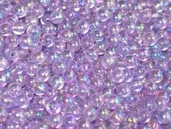Pärlor 6mm, Transparent Viol
