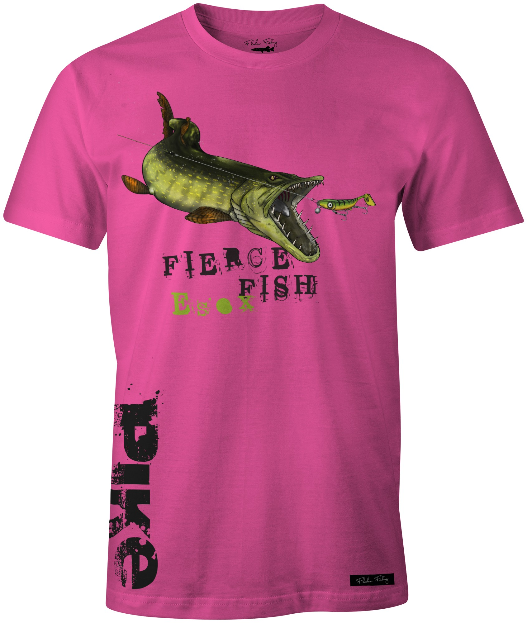 Fladen T-Shirt Hungry Pike Pink