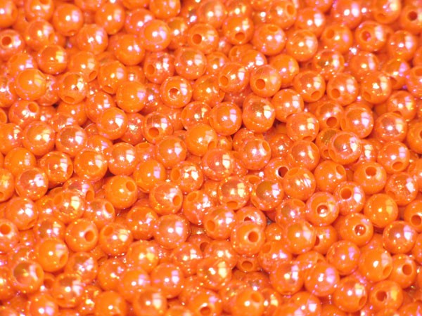 Pärlor 6mm Orange Blaze