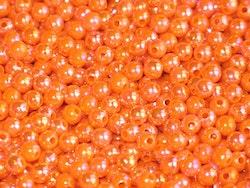 Pärlor 6mm Orange Blaze