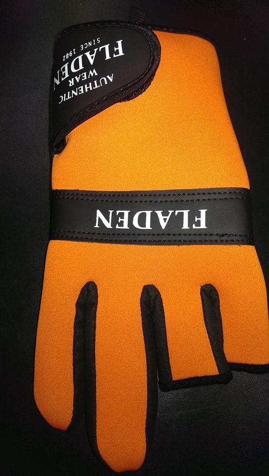 Neoprene Gloves orange split finger L