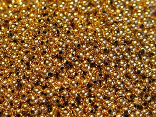 Pärlor 6mm, Gold