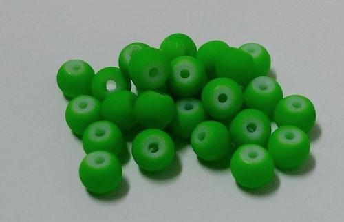 Glaspärlor 6mm Neongrön