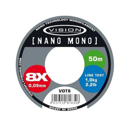 Vision Nano Mono 50m tippet - tafsmaterial