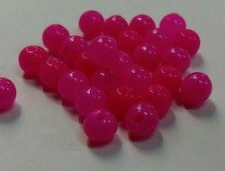 Pärlor 6mm Pink Glow