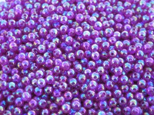 Pärlor 4mm lila-pärlemor
