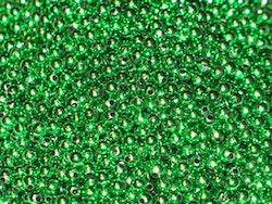 Pärlor 4mm, Metallic-grön