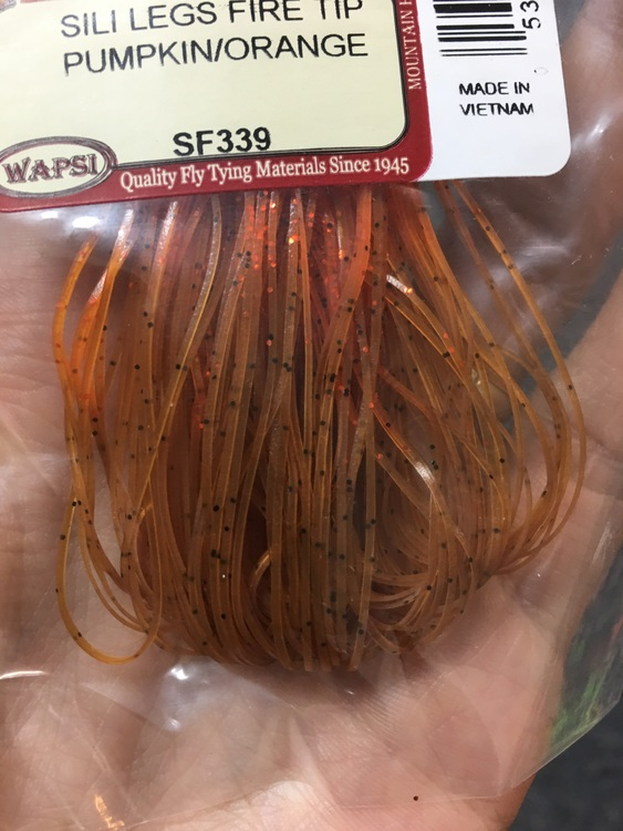 Flydressing Sili Legs Fire Tip Pumpkin/orange