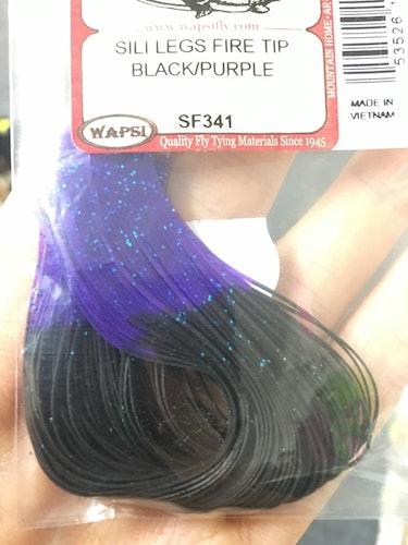 Fly-dressing Sili Legs Fire tip black/purple