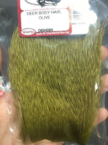 Fly-dressing Deer body hair, Olive