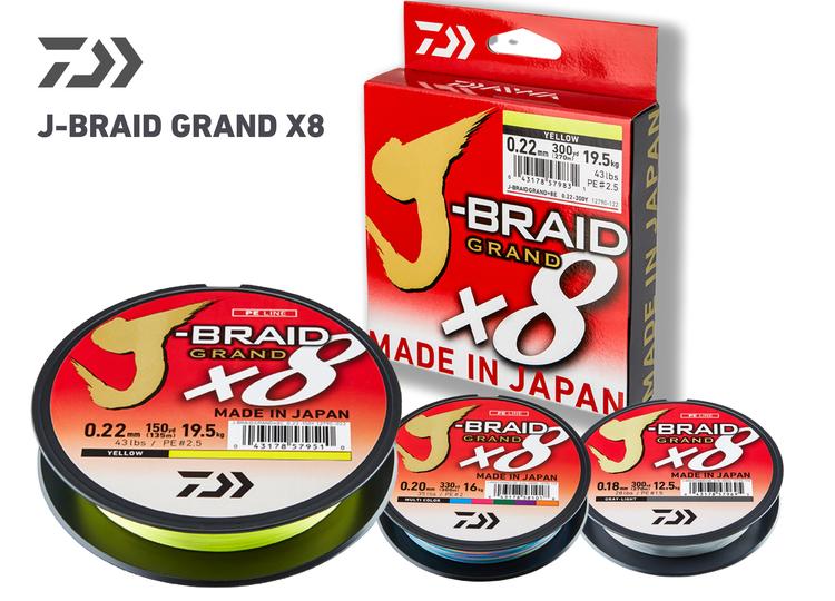 Daiwa J-Braid Grand Yellow 150m